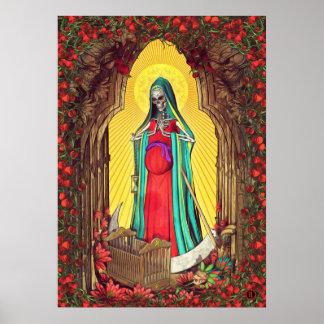 Poster Tarot de Père Noël Muerte - la mort sainte