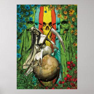 Poster Tarot de Père Noël Muerte - le monde
