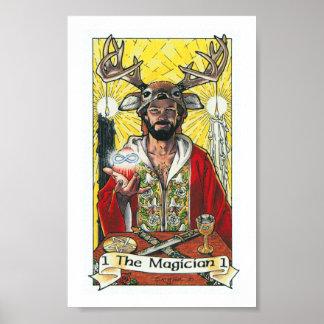 Poster Tarot en bois de Robin - commandant 1 le magicien