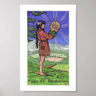 Poster Tarot en bois de Robin - page des pentagrammes
