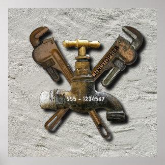 Poster Technicien d'ingénieur de drainage d'eaux d'égout