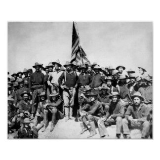 Poster Teddy Roosevelt et Rough Riders