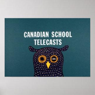 Poster Télédiffusions canadiennes d'école