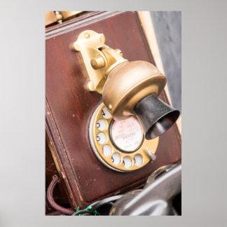 Poster Téléphone antique au marché