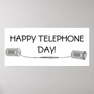 Poster Téléphone de boîte en fer blanc (pouvez vous