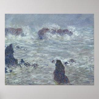 Poster Tempête de Claude Monet |, outre de la côte du