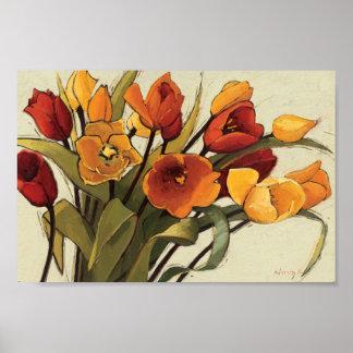 Poster Temps de tulipe