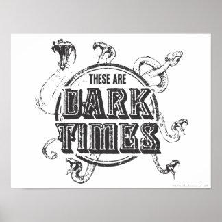 Poster Temps d'obscurité du charme | de Harry Potter