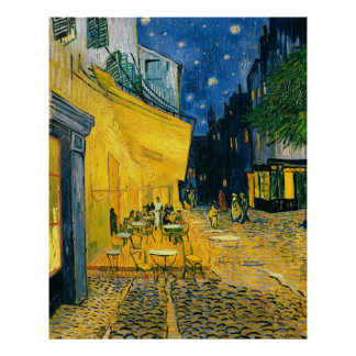 Poster Terrasse de café de Vincent van Gogh |, Place du