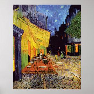 Poster Terrasse de café la nuit par Vincent van Gogh