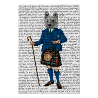 Poster Terrier des montagnes occidental dans le kilt