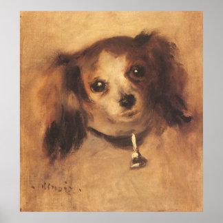 Poster Tête d'un chien par Pierre Renoir, beaux-arts