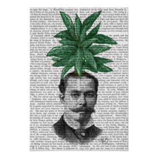 Poster Tête d'usine de tête d'arbre chinois