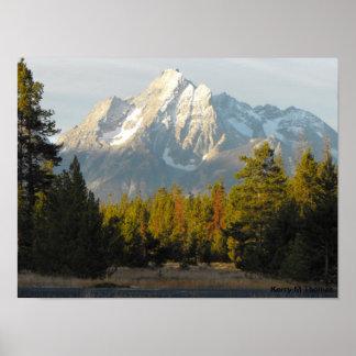 Poster Tetons grand Wyoming