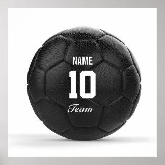 Poster Texte personnalisé par ballon de football moderne