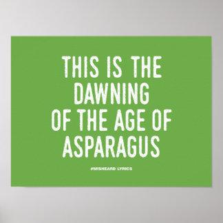 Poster Textes misheard typographiques drôles de chanson