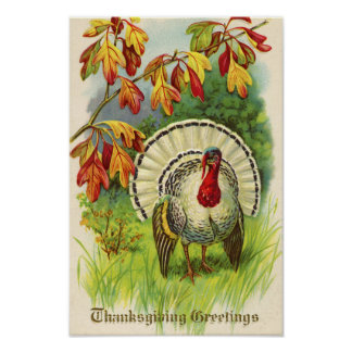 Poster Thanksgiving vintage Turquie