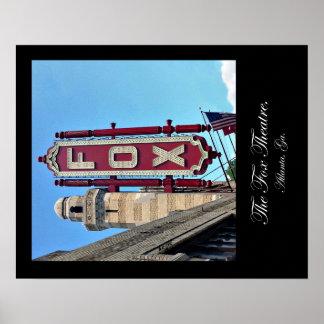 Poster Théâtre de Fox, Atlanta, la Géorgie, affiche, 16 x