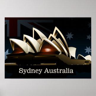 Poster Théatre de l'opéra de Sydney la nuit