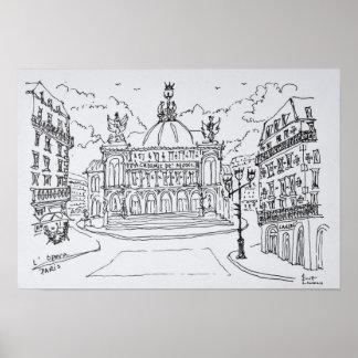 Poster Théatre de l'opéra | Paris, France de Palais