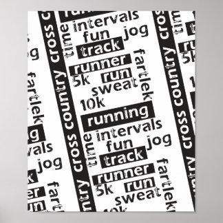Poster Thème mélangé de coureur de course