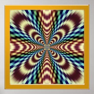 Poster Thérapie optique hypnotique de vibration