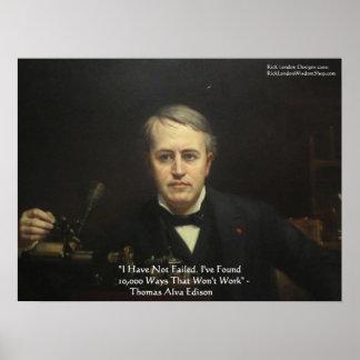 Poster Thomas Edison affiches de citation de sagesse de