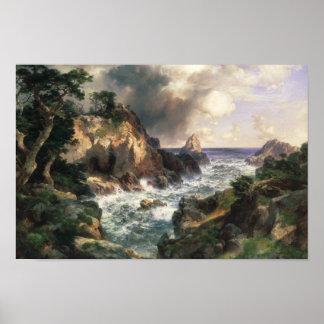 Poster Thomas Moran - point Lobos, Monterey, la