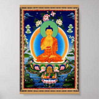 Poster Tibétain Thangka Prabhutaratna Bouddha