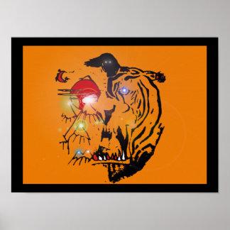 """Poster tigre chiot le """"de Robert rouge """""""