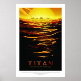 Poster Titan, affiche de voyage