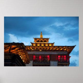 Poster Toit bouddhiste de Dzong