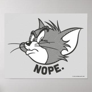 Poster Tom et Jerry   Tom dit Nope