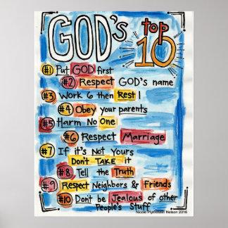 Poster Top Ten catholique