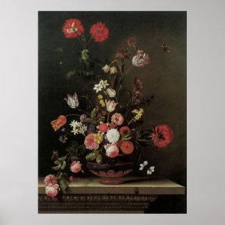 Poster Toujours fleurs florales baroques vintages de la