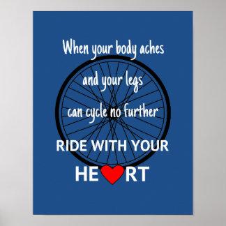 Poster Tour avec votre coeur inspiré