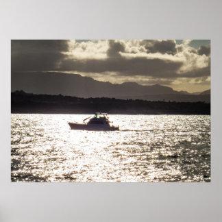 Poster Tour de bateau à la lumière du soleil