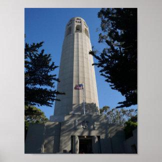 Poster Tour de Coit, affiche de San Francisco