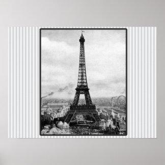 Poster Tour Eiffel à Paris a barré le cru