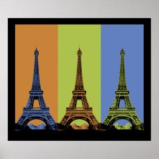 Poster Tour Eiffel dans le triptyque de Paris