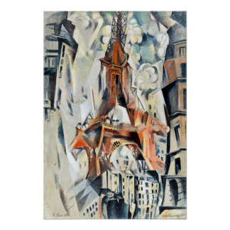 Poster Tour Eiffel de Robert Delaunay