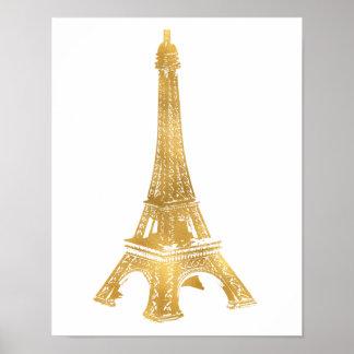 Poster Tour Eiffel d'or