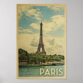 Poster Tour Eiffel vintage France de voyage d'affiche de