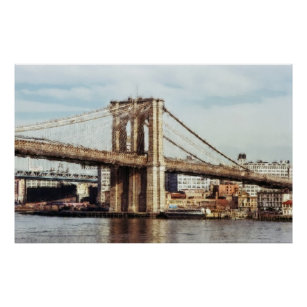 posters affiches toiles peinture de pont de brooklyn. Black Bedroom Furniture Sets. Home Design Ideas
