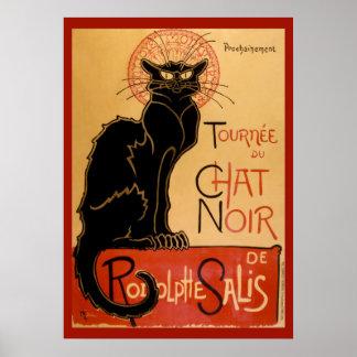 Poster Tournée du Chat Noir de La