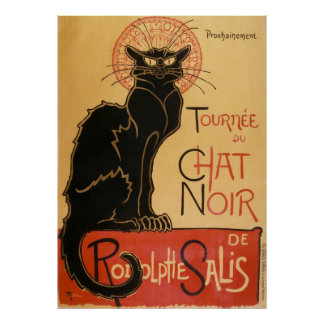 Poster Tournee Du Chat Noir (le chat noir)