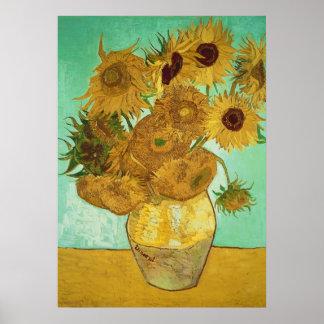 Poster Tournesols de Vincent van Gogh  , 1888