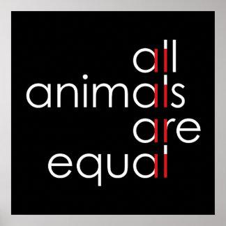 Poster tous les animaux sont égaux