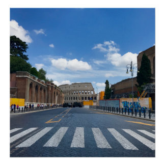 Poster Toutes les routes mènent à Rome