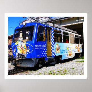 Poster Train de marmottes en Suisse